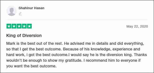 TrustPilot Review From Shahinur Hasan for Furstenberg Law
